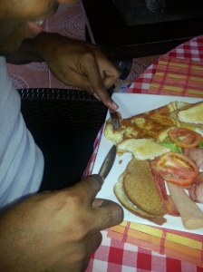 Renigade fuelling up for a high energy performance in Point Fortin - Courtesy of @sparkiebaby