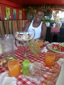 Delomar rejoicing cause food soon come - Courtesy of @sparkiebaby