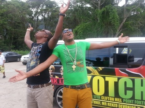 Rdx wrapping up Kotch Video Shoot at Maracas Bay - GEEZ - Courtesy of @sparkiebaby