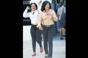 Shanique Myrie  - right and her sister Antoinette DaCosta (Photo: Joseph Wellington for The Jamaica Observer)